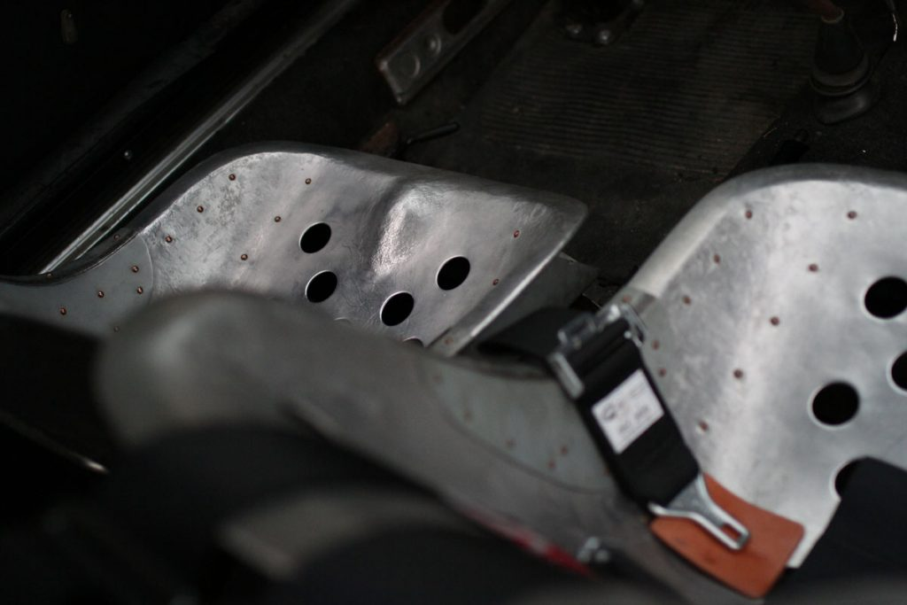 Aluminum Steel seats for a Porsche 356