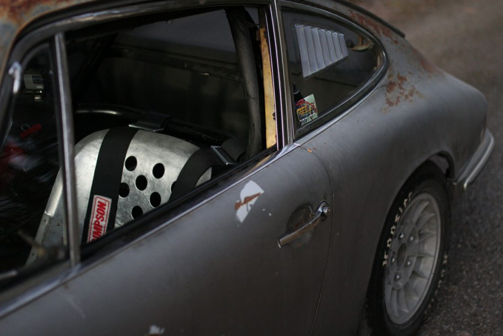 Aluminum-seats-in-a-Rusty-Porsche-912