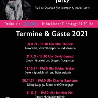Yeah bald Premiere mit Sue Talks🎼🎼🥂Stellt Fragen und seid dabei! Save the Date 31.8.2021!!!!#logopädie#stimmtherapiefürlehrer #stimmtherapiefürsänger #stimme #stimmung #musik #songwriting #gitarrist #texte