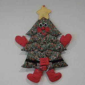 Kaarthanger kerstman of kerstboom