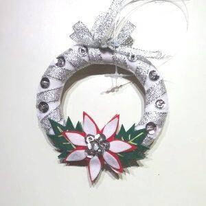 Zilverkleurige Kerstkrans