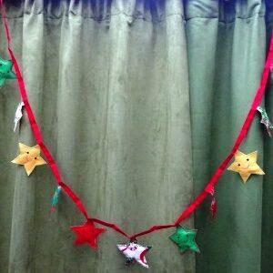 Kerstslinger met sterretjes
