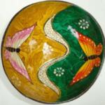 Beschilderd kokosschaaltje