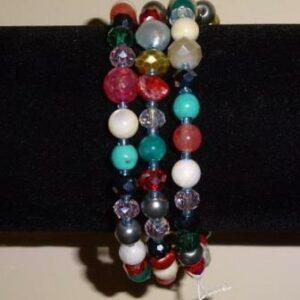 Armband van Zoetwaterparels en glasparels