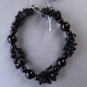 Armband zwart agaat