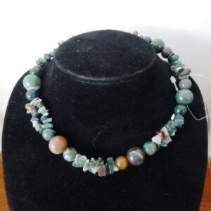 Halssnoer meerkleurige jade