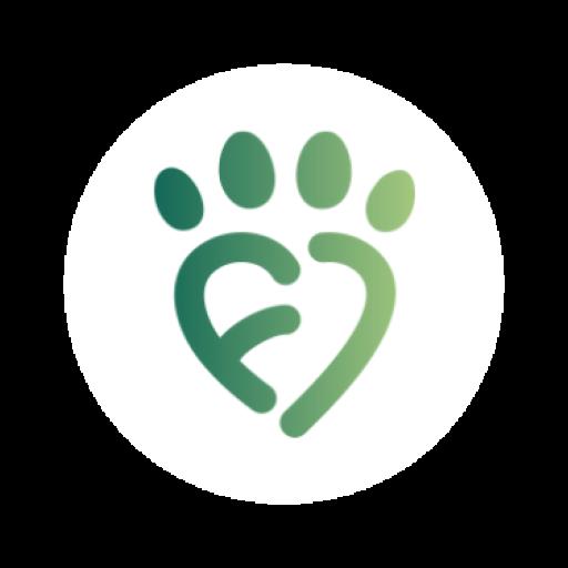 Fauna logo med hvid cirkel som baggrund