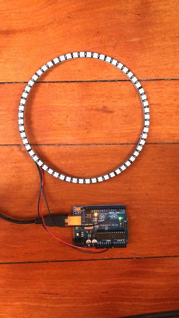 Testing Neopixel rings
