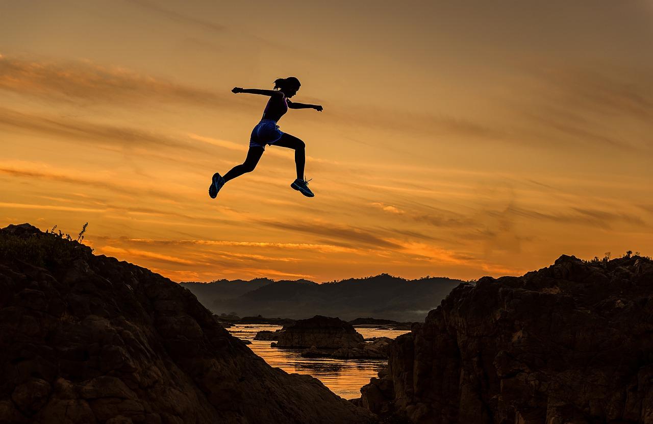 Kvinna som vågar språnget - personlig utveckling och träning