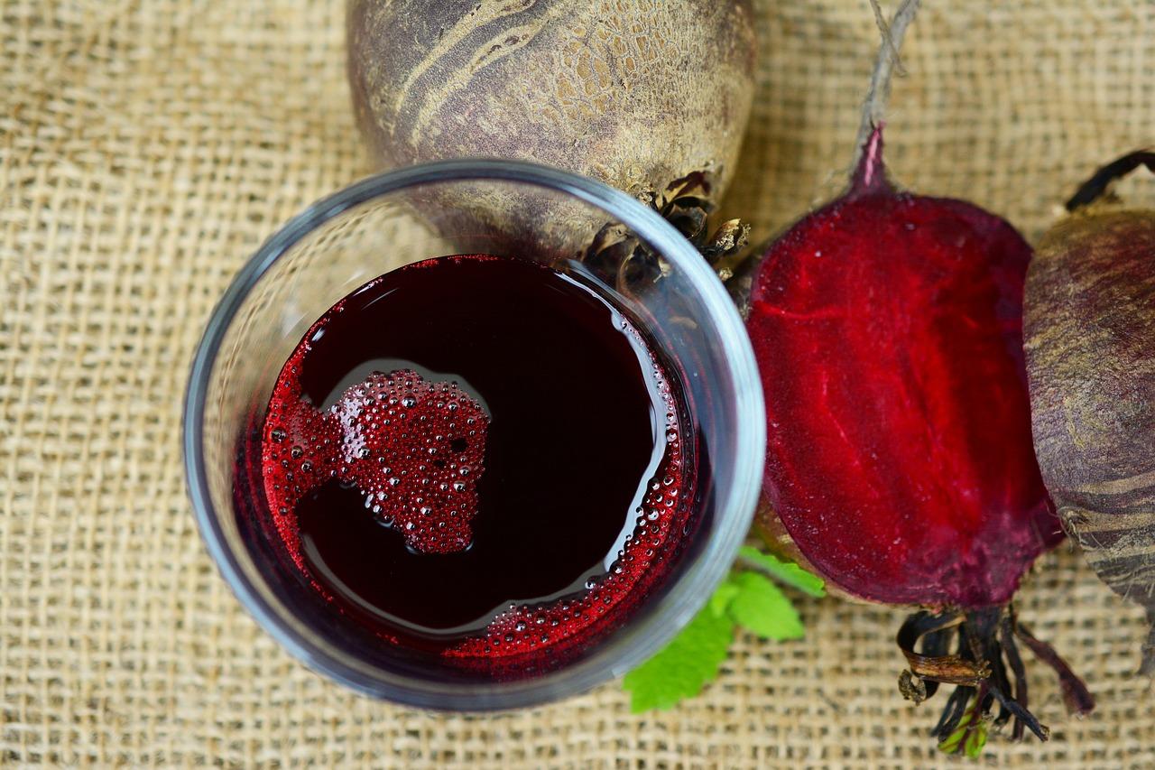 Glas med rödbetsjuice - 5 dagars fasta