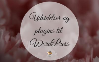Udvidelser og plugins til WordPress