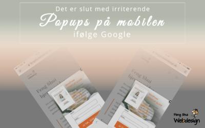 Popup boks på mobilen er ikke godt for din SEO
