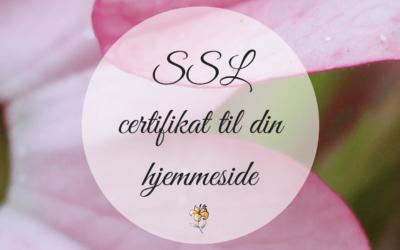 SSL certifikat til din WordPress hjemmeside