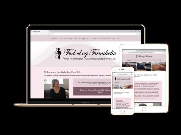 Nyt webdesign i Divi og WordPress til Fødsel og Familieliv