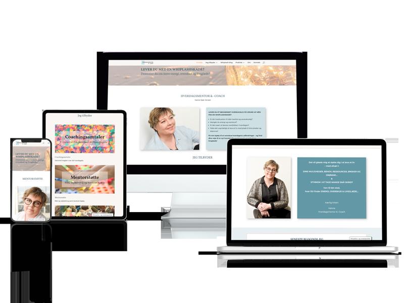 WordPress hjemmeside til hverdagsmentor.dk