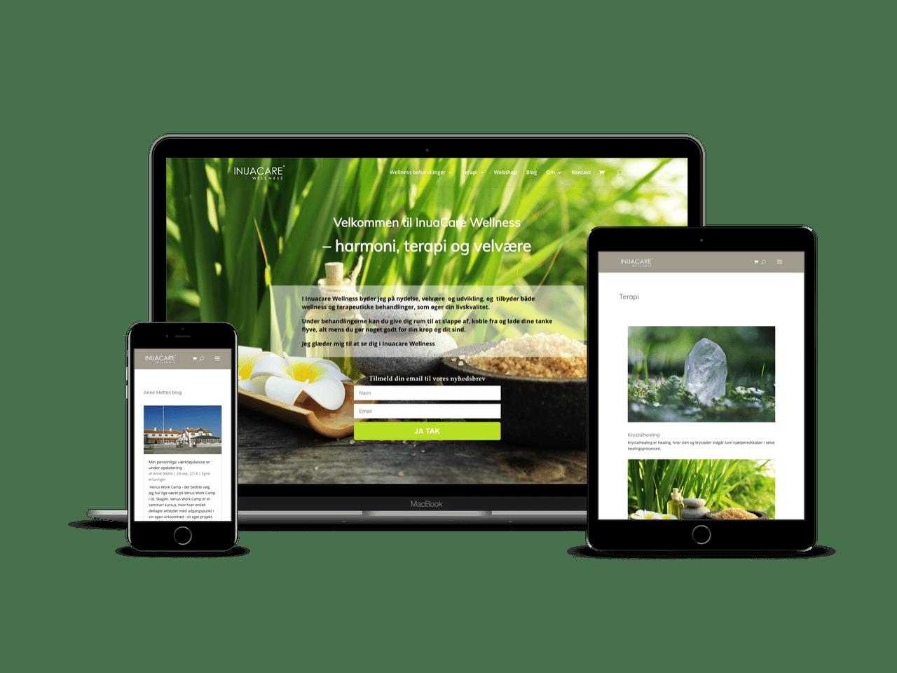 WordPress design til Inuacare Wellness