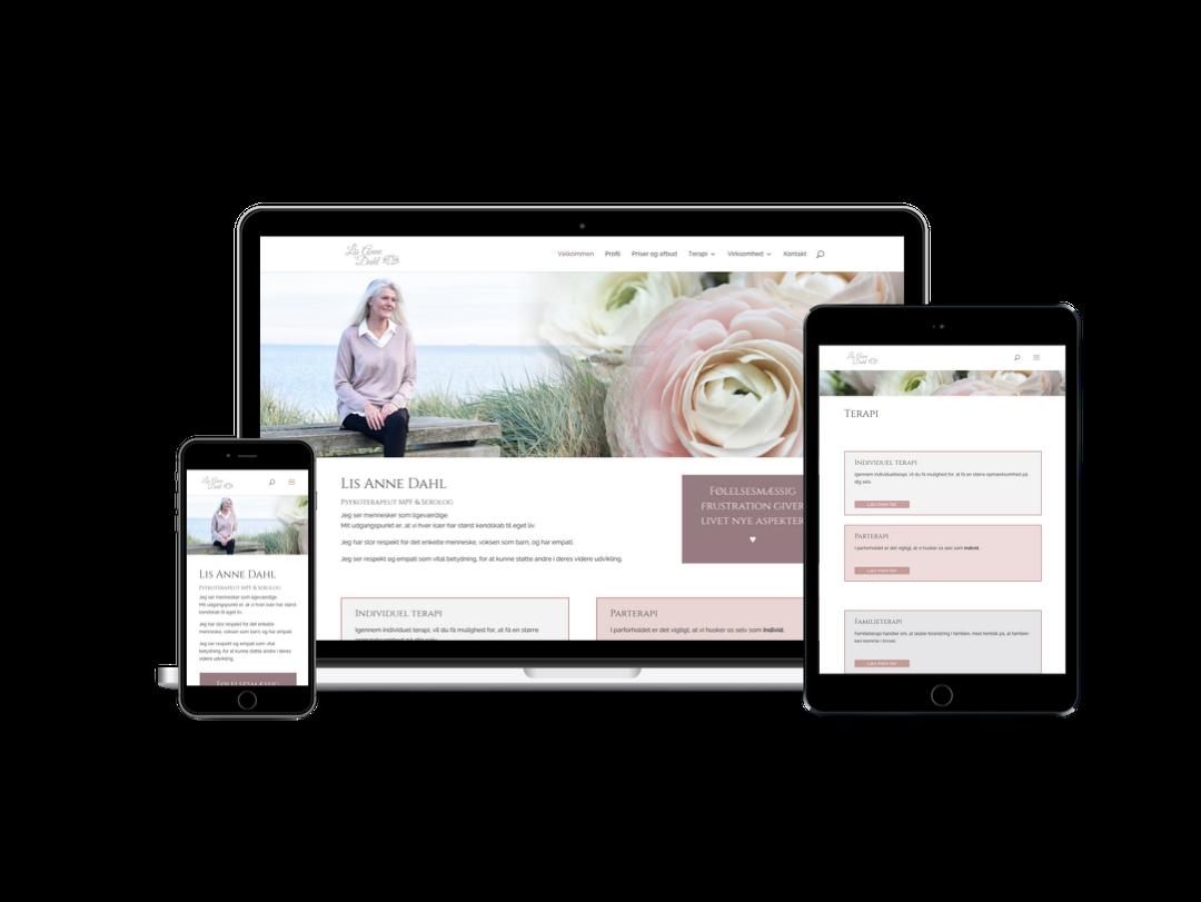 LisDahl.dk - flyttet over til WordPress med Divi tema design