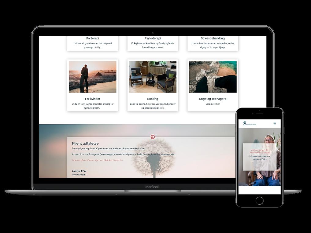 Wordpress hjemmeside til Møllekær Terapi