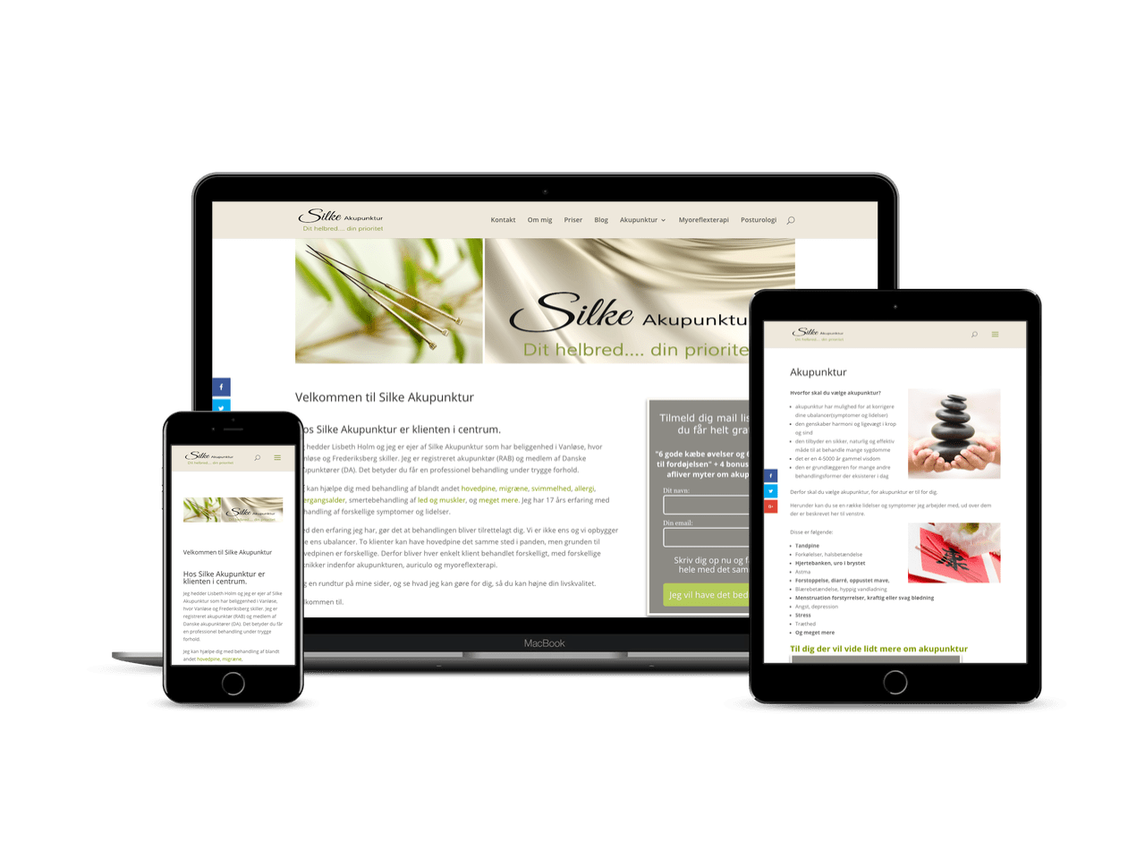WordPress redesign og blog til Silke Akupunktur