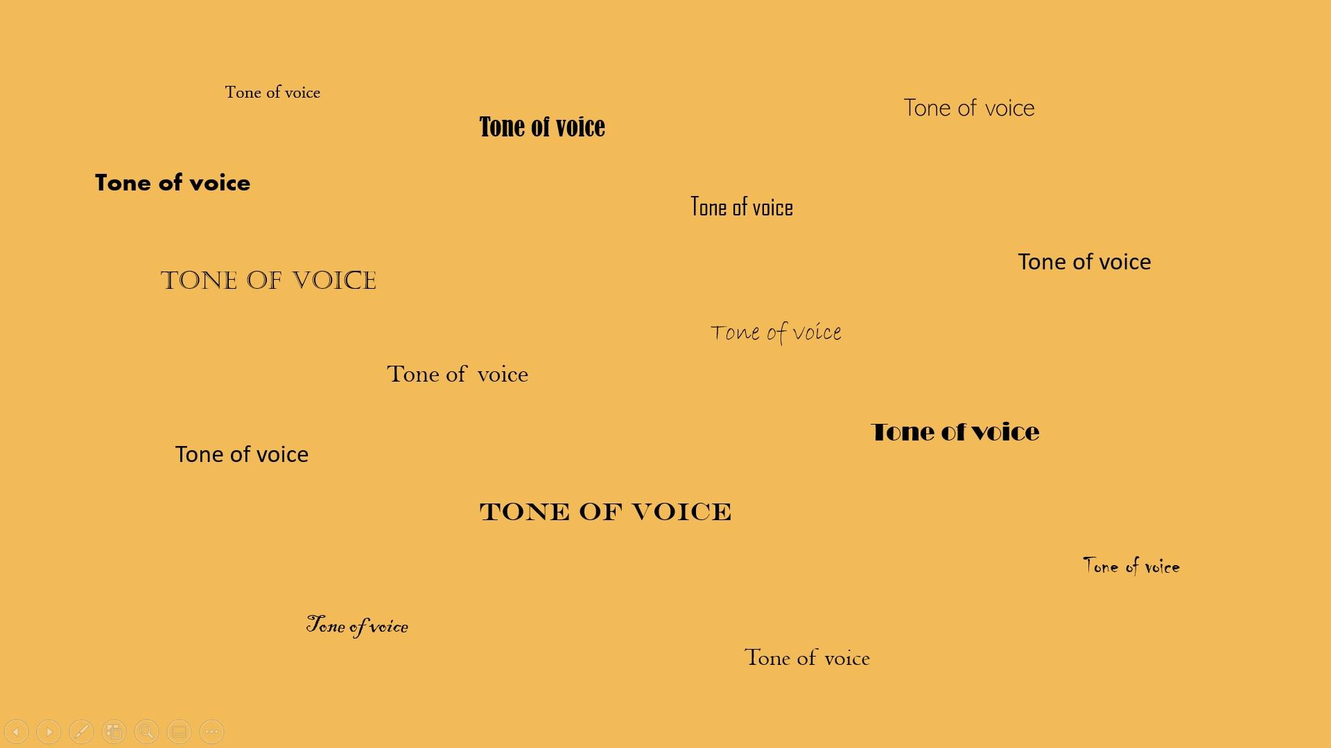 Probeer je tone of voice zo veel mogelijk gelijk te houden.