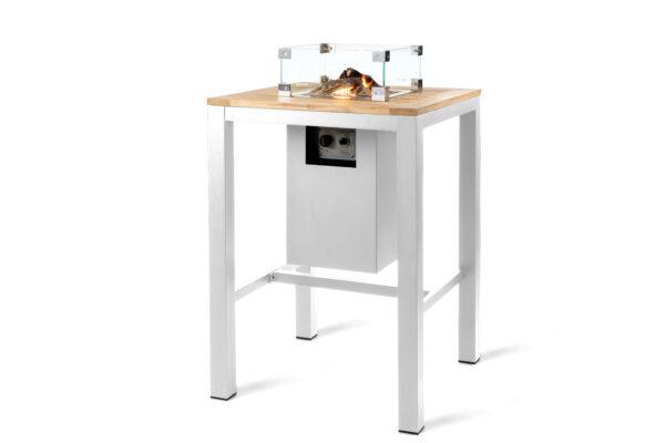 Happy Cocooning X Suns Table de Bar Carrée Blanche