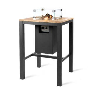 Happy Cocooning X Suns Table de Bar Carrée Anthracite