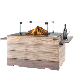 Happy cocooning cocoon table Nice&Nasty Lounge&Dining Rechthoek Antraciet + Glazen ombouw