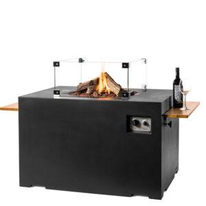 Happy cocooning cocoon table lounge&dining rechthoek zwart