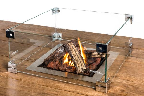 Happy Cocooning Cocoon Table Encadrement En Verre Brûleur Encastrable Carré