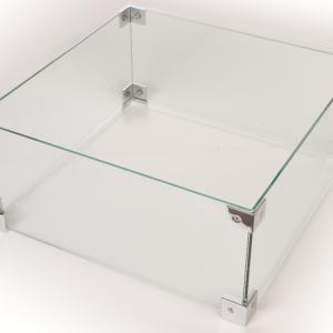 Cocoon table glazen ombouw vierkant rechthoek