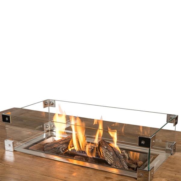 Happy Cocooning Cocoon Table Glazen Ombouw Inbouwbrander Rechthoek Klein