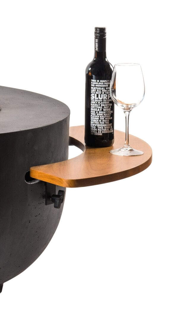 Cocoon Table Side Table Cone/Bowl en bois