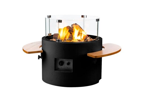 Happy cocoocing cocoon table rond zwart