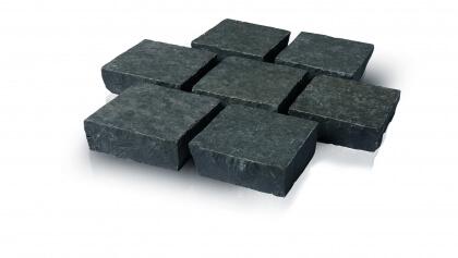 Basalt gezaagd en gevlamd 14x14x5 cm