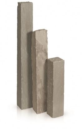 Palissaden Kandla grijs 12x12x125 cm
