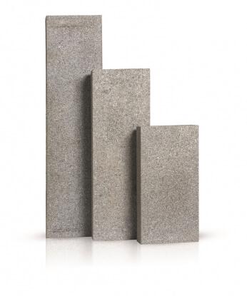 Palissaden donker grijs graniet gevlamd 8x25x50 cm