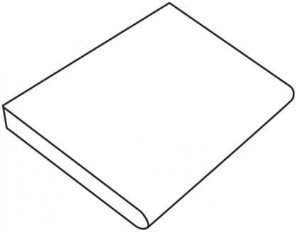 Donker grijze graniet (profiel C) 60x60x5/3 cm