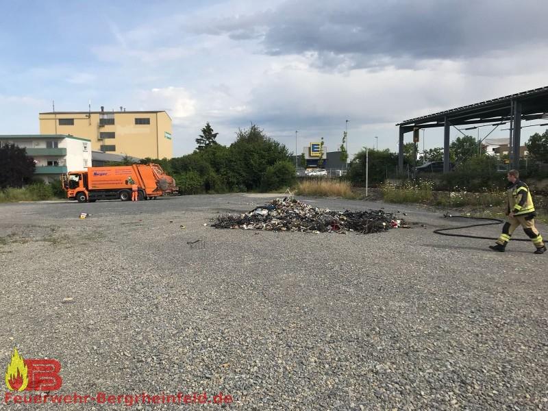 Brand Chemie im Freien