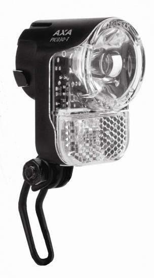 AXA Koplamp Pico 30 T Switch Aan/Uit LED Dynamo Zwart