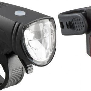 Axa - Verlichtingsset Greenline 15 Batterij Led Zwart