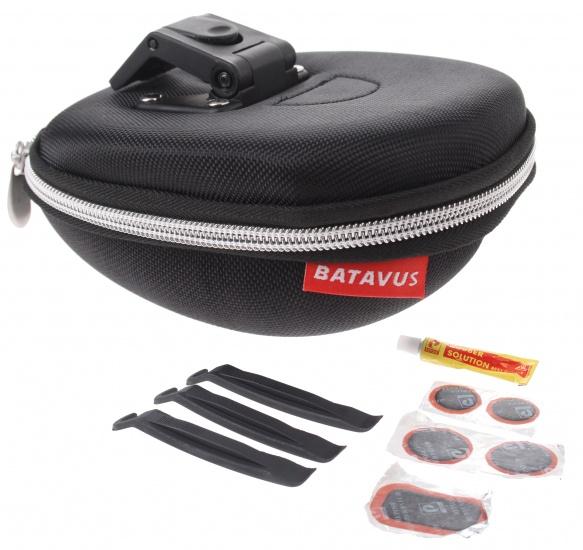 Batavus - Zadeltas Met Inhoud Klick 1,3 Liter Zwart