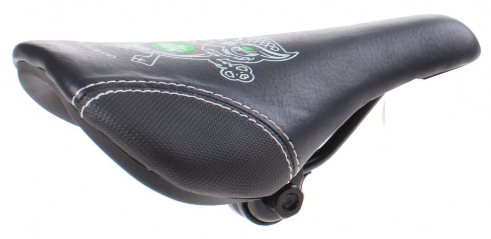 DK Bicycles zadel transporter BMX met strop 22 cm zwart