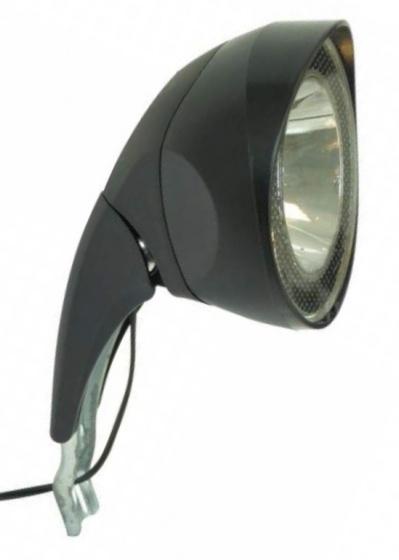 Dresco koplamp 10 lux halogeen naafdynamo voorvork zwart