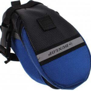 Dunlop zadeltas 1 liter blauw/zwart