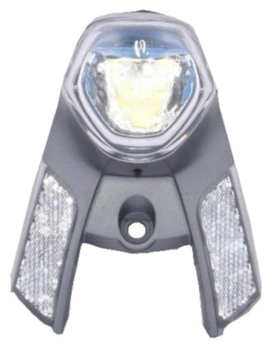 Gazelle koplamp In Sight batterij voorvork zilver 13 cm