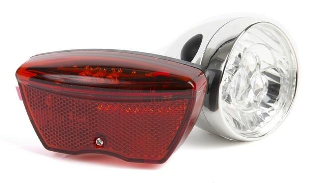 Ikzi Light verlichtingset Retro led batterij zilver/rood