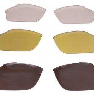 Lazer lenzenset fietsbril Argon AR2 zwart/geel/transparant