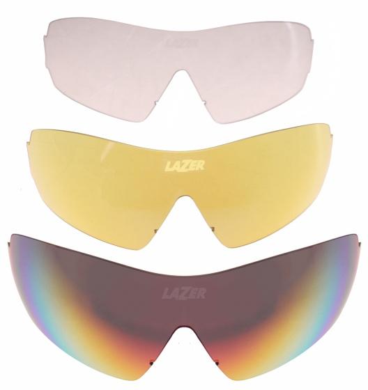 Lazer lenzenset fietsbril M1 (metalen neusstuk) 3 delig rood