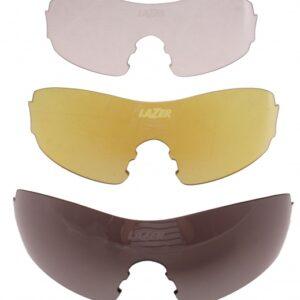 Lazer lenzenset fietsbril M1 zwart/geel/transparant