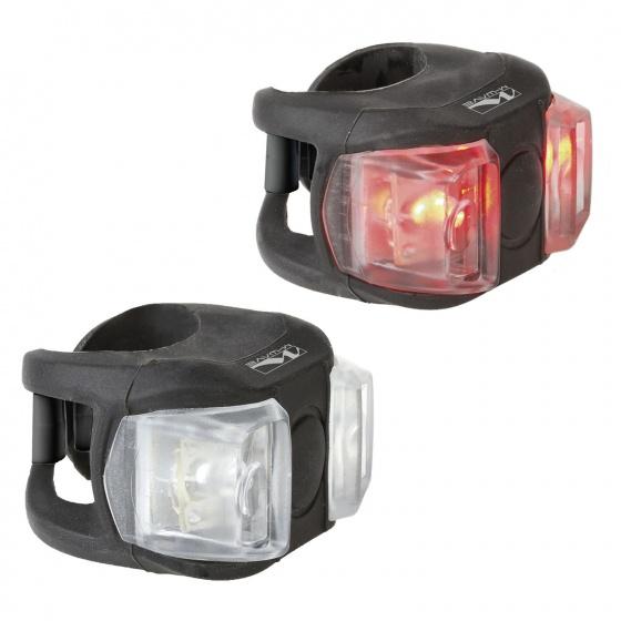 M Wave Cobra II mini verlichtingsset batterij wit en rode LED